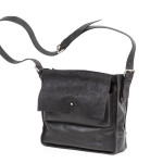 Shoulder bag with  double flap. UnisexArt. 230 Origin business collectioncm 30X30x9