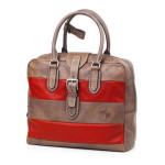 Zip Top Briefcase with. UnisexArt. 176 Rugby collectioncm 38X34x14