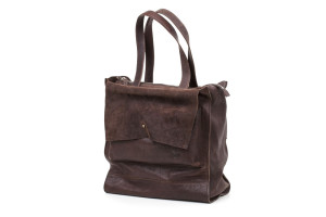 Borsa a mano chiusura zip doppia pattina unisex Art. 231//origin business collection cm. 34x36x14
