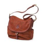 2Ways Shoulder  bag with flap. UnisexArt. 169 Eris collectioncm 38x38x14,5